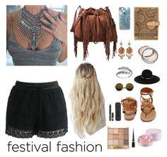 """Festival Fashion"" by morgantwoerner on Polyvore featuring Diane Von Furstenberg, WithChic, Primrose, Breckelle's, Eugenia Kim, Casetify, Chicwish, Red Camel, Nudestix and Christian Louboutin"
