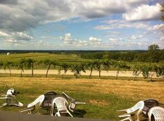 Galena Cellars Winery & Vineyard: A view of the vineyard from the porch