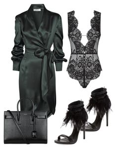 """Untitled #327"" by eaubleue ❤ liked on Polyvore featuring Mode, Yves Saint Laurent, Agent Provocateur und Schutz"
