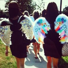 Pi Phi Angel wings! Love the idea of every sister decorating her wings to match her personality #piphi #pibetaphi
