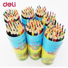 Deli color pencil set Wooden Painting Colorful Pencils for student artist drawing paint supplies 12/18/24/36 color Pencils