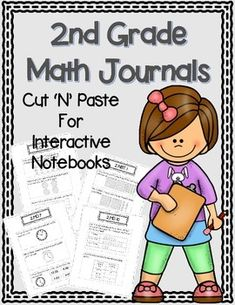 2nd Grade Math Journals for Interactive Notebooks {Common Core Aligned}