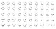 Head angles chart by Flipfloppery.deviantart.com on @deviantART