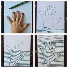 Ett papper, en penna och en hand är allt som behövs för att ro i land det här pysslet.