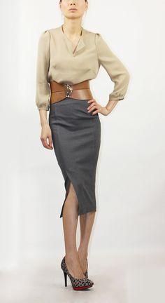Quarter sleeves silk blouse by EllaLai on Etsy, $84.00
