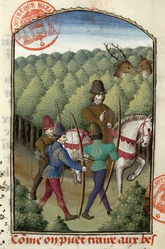 Medieval Paintings, Old Paintings, Medieval Manuscript, Illuminated Manuscript, Renaissance, Medieval Archer, Historical Art, Medieval Clothing, 14th Century