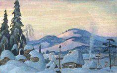 Борис Смирнов-Русецкий.   Снегурочка. Зима.   Boris Smirnov-Rusetsky.   Snow Maiden. Winter.