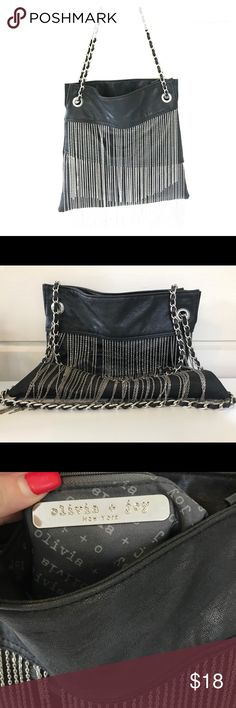 SUPER COOL OLIVIA AND JOY FRINGE EVENING BAG/PURSE SUPER COOL OLIVIA AND JOY FRINGE VEGAN EVENING BAG/PURSE  FRINGE SWAYS TO THE MUSIC AND THE BEAT ! GET ON THE DANCE FLOOR AND BOOGIE WITH THIS PURSE tonight !!!! :-) Olivia + Joy Bags Shoulder Bags