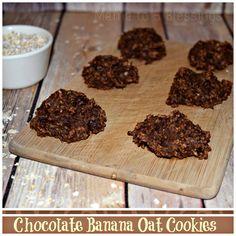 Chocolate Banana Oat Cookies, Cookies, No Flour, No Sugar, Natural Recipe, Recipe, Banana,Vegan