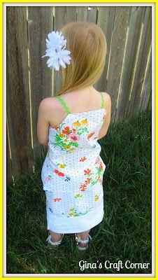 Gina's Craft Corner: GOODwill to GREAT Ideas Part 1: Pillowcase Skirt & Top