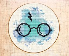 Harry Potter cross stitch pattern Modern cross stitch Hogwarts Gryffindor cross stitch Easy Watercolor cross stitch Harry Potter lover gift