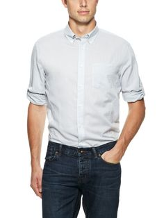 Solid Button Down Shirt by John Varvatos Star USA at Gilt