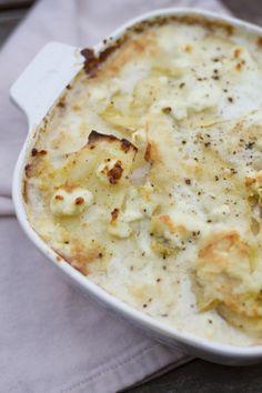Goat Cheese Potato Gratin - Click for Recipe.