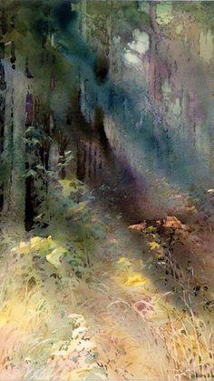 Watercolor by Alice Ravenel Huger Smith.