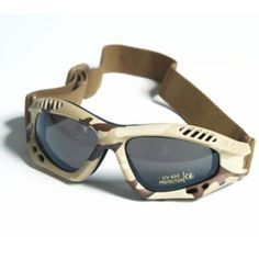 Military Combat Commando Air Pro Goggles Eyes Protection Clear Lens Desert Camo by Miltec. $22.99. This quality Commando Air-Pro goggles feature soft foam lining inside the frame to ensure perfect and comfortable fit, and curved shape that guarantees complete protection of the entire eye area. Moreover, thanks to its adjustable elastic strap the goggles go perfectly with a helmet. Perfect for Paintball and other tactical games.