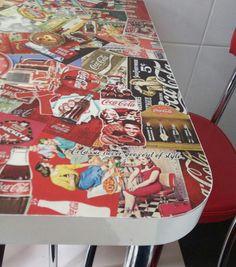 Mesa decorativa Coca-Cola. #cocacola #coke