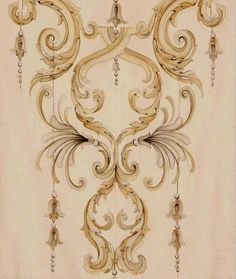 2 tone Baroque stomach embroidery design