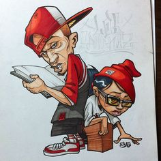 Character Drawing, Character Illustration, Character Design, Illustration Art, Arte Hip Hop, Hip Hop Art, Cartoon Drawings, Cartoon Art, Art Drawings