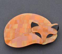 BEAUTIFUL SHAPE - Lea Stein Gomina Cat brooch,