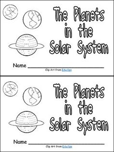 FREE! This Planets Mini Book will introduce young learners