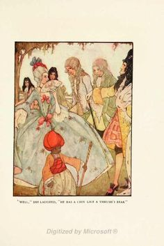 """Illustration from """"King Thrushbeard"""" inGrimm's Fairy Talesedited by Frances Jenkins Olcott with illustrations by Rie Cramer. Published in 1927."""