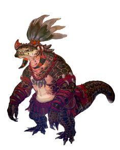 頑強な体躯と太い尻尾が特徴の新たな獣人族