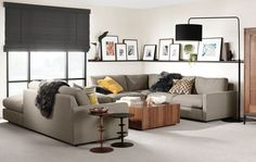 A contemporary sectional sofa, our Easton sectional is living room furniture at its best. Easton sectionals are available with sofa and chaise components. Modern Wall Shelf, Modern Sectional, Furniture, Modern Furniture, Sectional, Home, Modern Furniture Living Room, Home Decor, Living Room Furniture