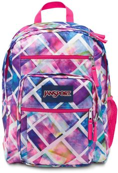 Amazon.com: JanSport Big Student Backpack, Pink Pansy Preston Plaid: Sports & Outdoors