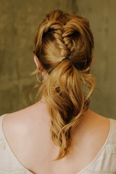 French Braid and Low Ponytail