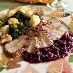 Pork Tenderloin with Zesty Cranberry Sauce (this sauce is delicious on pork chops too - cranberries and jalapeno - YUM!)