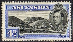Ascension 1938 George VI SG 42d Fine Mint Scott 44B Green Mountain Other Ascension island stamps HERE