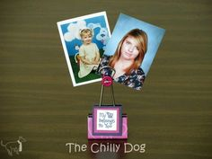 Make a dozen personalized photo holders from binder clips to give as party or shower favors for less than $1 each.