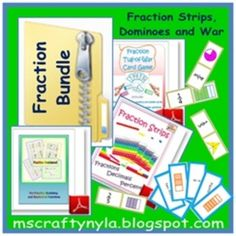 Do you love fraction card games for your students? They are a fun way of introducing and reinforcing fraction concepts, especially for equivalent fractions... $ This is a product bundle!