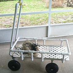 PVC pull behind cart