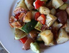 Vegetable Hash Recipe, Potato Vegetable, Vegetable Recipes, Entree Recipes, Pork Recipes, Diet Recipes, Delicious Recipes, Easy Recipes, Bacon Potato