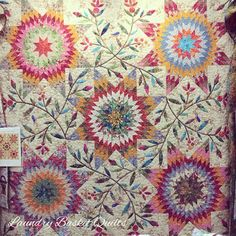 Laundry Basket Quilt of the Day - Pennsylvania Star with Jellybean fabric.