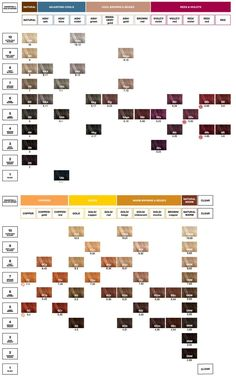 Redken Color Fusion Chart Hair Pinterest Chart Hair