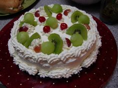 Chinese/Asian cake. BEST. CAKE. EVER. light, fluffy, slightly sweet, and topped with fruit