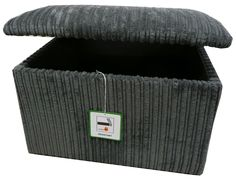 Grey jumbo cord ottoman style large upholstered storage box chest trunk seat uk in Home, Furniture & DIY, Furniture, Ottomans & Footstools | eBay