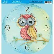 Decoupage Relogio c/Recorte Litoarte DR21-035 Decoupage Vintage, Decoupage Paper, Owl Clock, Clock Art, Clock Printable, Clock Template, Blue Nose Friends, Mirror Painting, Couple Wallpaper