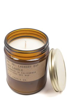 Nothing better to freshen up your living space with than a Laundry Day-scented soy candle!