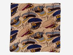 A World War II British propaganda scarf made by Jacqmar of London from 1940 to 1945. Jacqmar was based in Mayfair and many scarves were produced for the export market as well as for wartime sale in Britain, particularly in London.