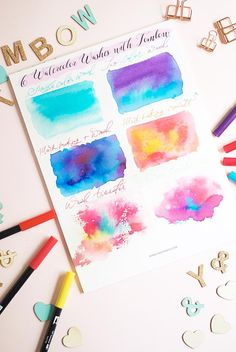 Looking for a fun way to watercolor? Use my technique of creating watercolor wash using Tombow brush pens in six different ways - Inkstruck Studio Tombow Markers, Brush Pen Art, Watercolor Brush Pen, Tombow Dual Brush Pen, Easy Watercolor, Watercolour Tutorials, Watercolor Techniques, Brush Markers, Water Brush Pen
