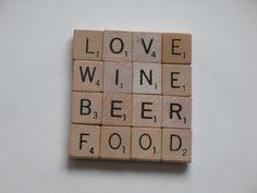 Scrabble coasters...I LOVE SCRABBLE!! Scrabble Coasters, Scrabble Tile Crafts, Scrabble Letters, Tile Coasters, Dyi Crafts, Home Crafts, Adult Crafts, Fun Projects, Wood Projects