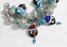 Pretty Penguin Arctic Cluster Bracelet  by HalesBeeHandmade, $17.00
