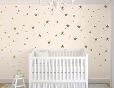 ON SALE Gold Star Decals Star Wall Decals by TweetHeartWallArt