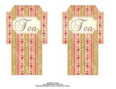 Shabby Chic Free Printable Envelopes | Tea Bag Envelopes Shabby Floral Chic…