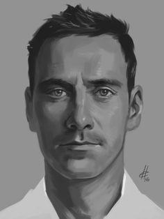 Michael Fassbender #art #sketch #drawing #fanart #michaelfassbender