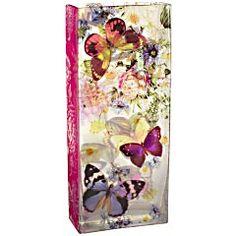 Butterflies Rectangular Glass Vase