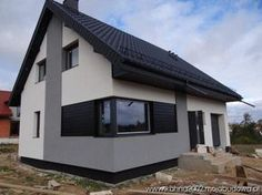 Blog MojaBudowa.pl Dom Z255A buduje kahna2002 - internetowy dziennik budowy, katalog firm budowlanych House Roof, Facade House, Exterior Design, Interior And Exterior, Stucco Homes, New House Plans, Industrial House, Minimalist Home, Home Fashion